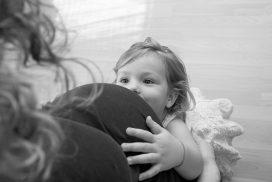 Vorfreude auf die kleine Schwester